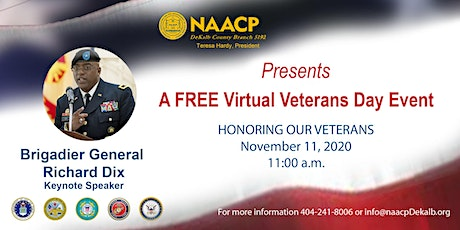 NAACP DeKalb - Virtual  Veterans Day Event tickets