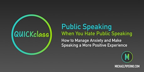 Public Speaking When You Hate Public Speaking (On Demand) tickets