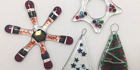 Make your own Fused Glass Christmas decorations tickets