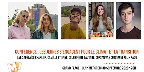 Conférence : Les jeunes s'engagent pour le climat et la transition billets