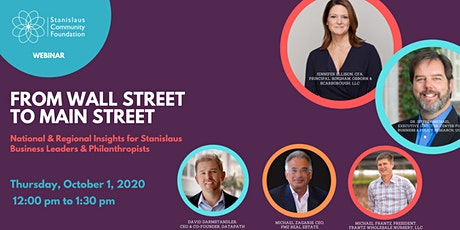 From Wall Street to Main Street tickets