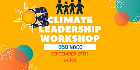 350 Northern Colorado Climate Leadership training tickets