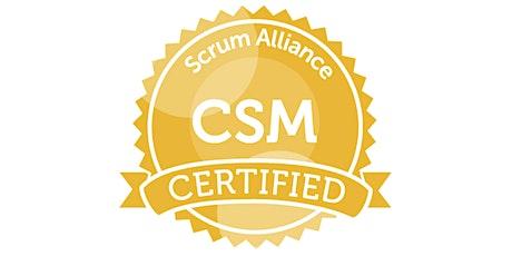 Certified ScrumMaster (CSM) class: Oct 2020 (Online over 4 afternoons) tickets