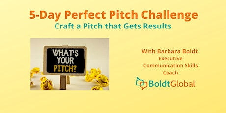 5-Day Perfect Pitch Challenge - 2nd Edition tickets