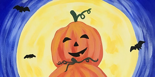 Kids Paint Along Class: Spooky Jack-O'-Lanterns