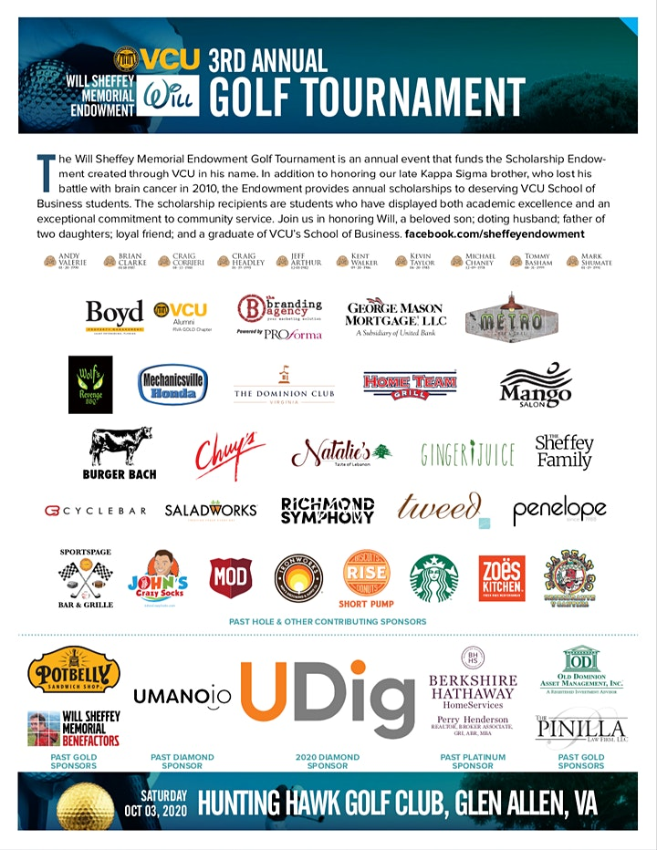2021 - 3rd Annual Sheffey Endowment Golf Tournament image
