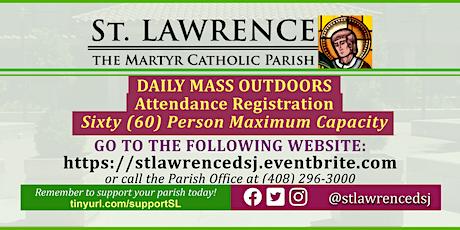 SATURDAY, September 26 @ 8:30 AM DAILY Mass Registration tickets