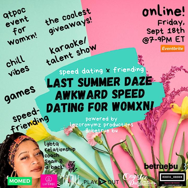 Last Summer Daze Awkward Speed Dating for Womxn image