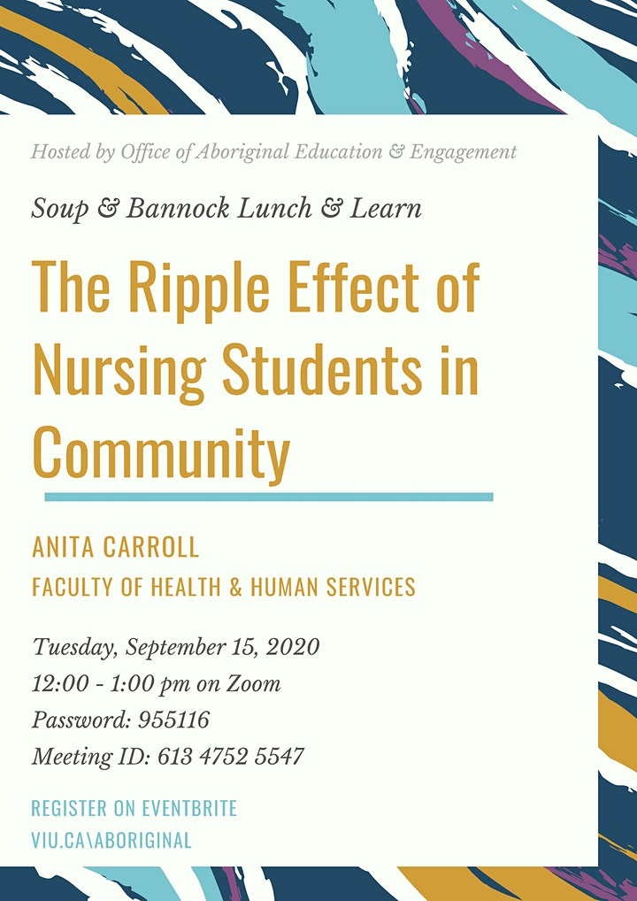 Soup & Bannock Lunch & Learn: Effect of Nursing Students in Community image