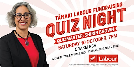 Quiz Night! – Labour Party Tāmaki Fundraiser tickets