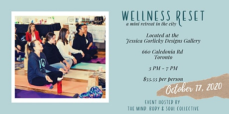 Wellness Reset; a mini retreat in the city tickets