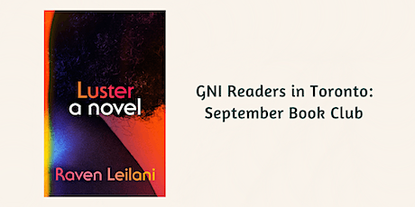 GNI Readers in Toronto: September 2020 tickets