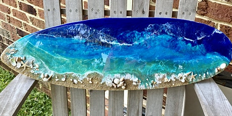 Surf's Up Resin Surfboard @ Pour Girls tickets