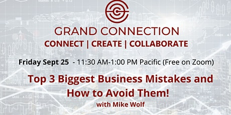Top 3 Biggest Business Mistakes and How to Avoid Them! With Mike Wolf tickets