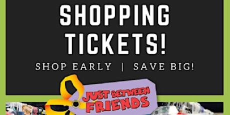 Waukesha JBF PRIME TIME SHOPPING TICKET Monday, October 12th (4pm-8pm) tickets