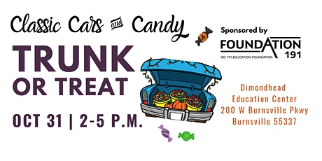 Classic Car Registration: Foundation191 Trunk or Treat Classic Cars & Candy tickets