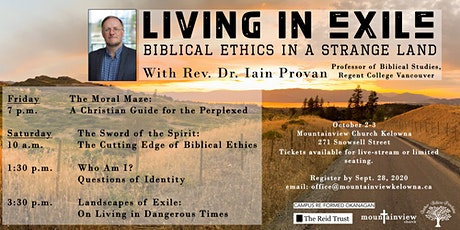 Living in Exile: In Person Conference with Rev. Dr. Iain Provan tickets