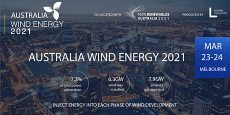 Australia Wind Energy 2021 tickets