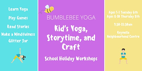 Kid's Yoga, Storytime, and Craft School Holiday Workshop tickets