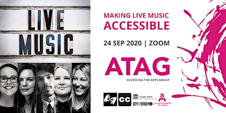 Making Live Music Accessible | ATAG  Online 24 Sep 2020 tickets