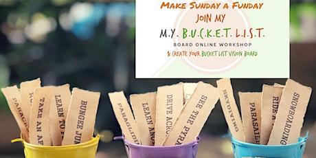 SundayFunday Bucket List Board Online Workshop tickets