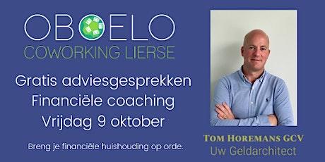 Gratis adviesgesprekken financiële coaching, door Tom Horemans tickets