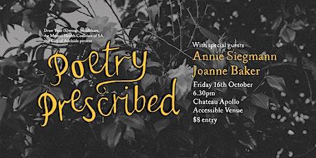 Poetry Prescribed tickets