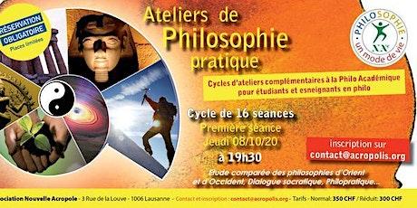 Cycle de 16 ateliers de philo pratique-Complémentaire à la philo académique Tickets