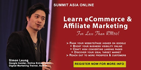 Google Insider Teaches eCommerce and Affiliate Marketing tickets