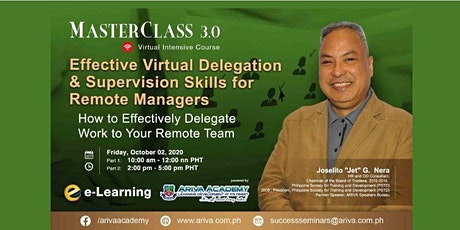 Effective Virtual Delegation & Supervision Skills for Remote Managers tickets
