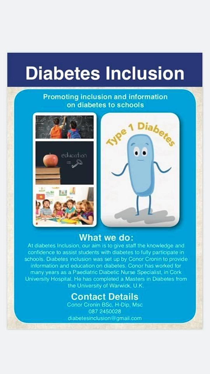 Type 1diabetes webinar for teachers and SNA's image