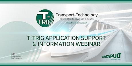 T-TRIG - Application Support & Information Webinar tickets