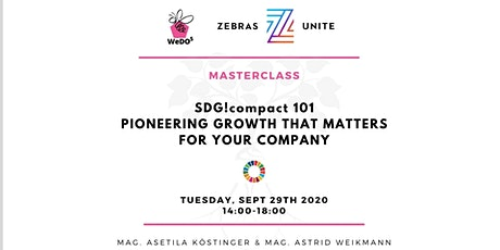 SDG 101 - PIONEERING GROWTH THAT MATTERS FOR YOUR COMPANY Tickets