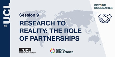 Beyond Boundaries Session 9: Research to Reality: The Role of Partnerships tickets