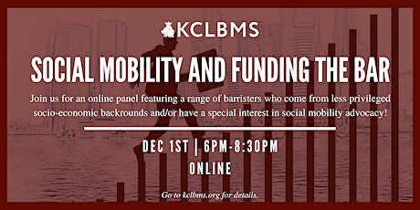 Social Mobility & Funding the Bar Panel tickets