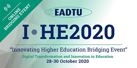 ONLINE BRIDGING EVENT   I·HE2020 'Innovating Higher Education Conference' tickets