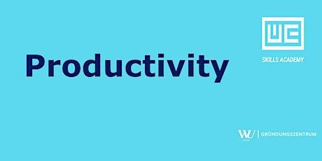 Skills Academy Webinar: Productivity
