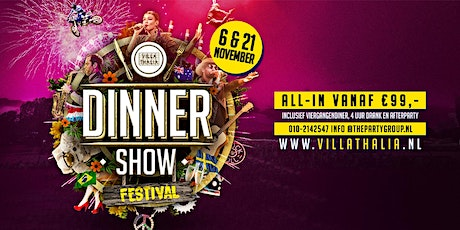 Dinnershow Festival tickets