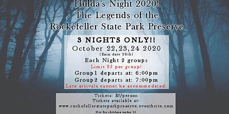 """Hulda's Night"" a special night hike in the Preserve with storytelling tickets"