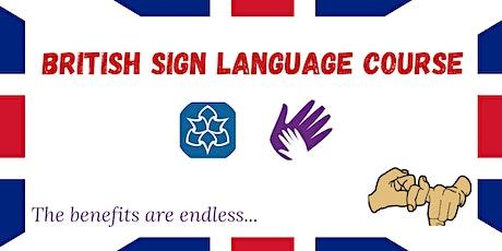 British Sign Language Course. tickets