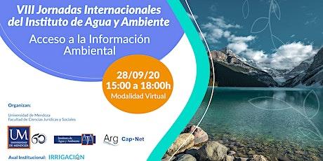 VIII Jornadas Internacionales del Instituto de Agua y Ambiente entradas