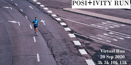 POSITIVITY: FREE Virtual Run  3km/5km/10km/15km tickets