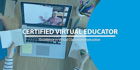 Certified Virtual Educator (CVE) Thu Oct 8, 10am EDT tickets