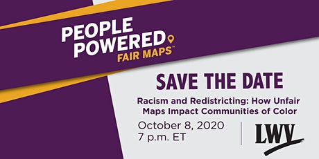 Racism and Redistricting: How Unfair Maps Impact Communities of Color tickets