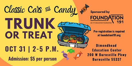 High-Risk & Special Needs Families: Trunk or Treat Classic Cars & Candy tickets