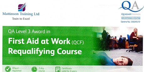 First Aid at Work Requalifying  course tickets