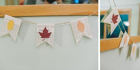 Adult Craft Connection: Take and Make Fall Leaf Book Page Banner tickets