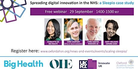 Spreading digital innovation in the NHS – a Sleepio case study tickets