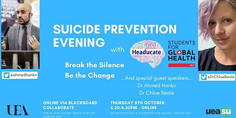 Suicide Prevention Evening - A SfGH UEA & Headucate Collaboration tickets