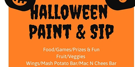 "Halloween ""Paint & Sip"" entradas"